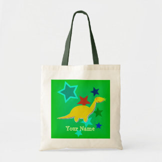 Yellow Dinosaur Stars Name Bag/ Tote
