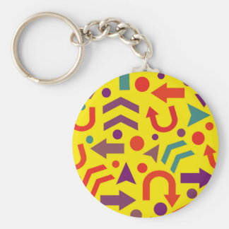 Yellow direction keychain
