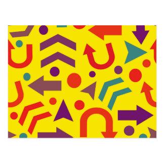 Yellow direction postcard
