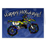 Yellow Dirt Bike Christmas Card
