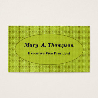Yellow distressed pattern business card