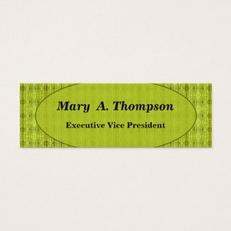 Yellow distressed pattern mini business card