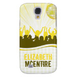 Yellow DJ Spin Party Personalized iPhone 3 Case
