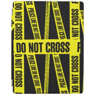 Yellow Do Not Cross Crime Scene Tape Danger Areas iPad Smart Cover