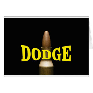 yellow dodge bullet baby card