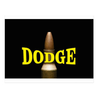 yellow dodge bullet baby postcard