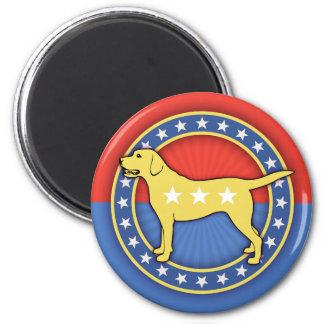 Yellow Dog 2 Inch Round Magnet