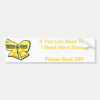 Yellow Dog Bumper Sticker Car Bumper Sticker