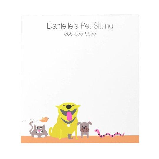 yellow dog  u0026 cat fish snake mouse notepad