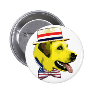 Yellow Dog Democrat. Button