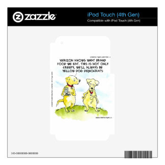 Yellow Dog Democrats Funny Skin For iPod Touch 4G