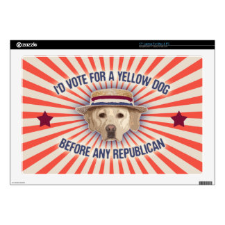 """Yellow Dog II Decal For 17"""" Laptop"""