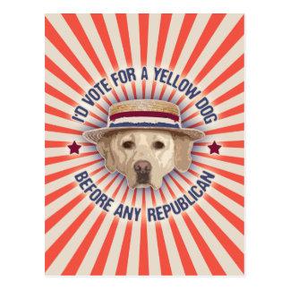 Yellow Dog II Postcard
