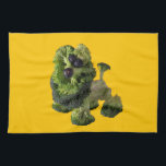 "Yellow dog kitchen towel. hand towel<br><div class=""desc"">Yellow dog kitchen towel</div>"