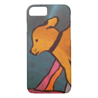 Yellow Dog Painting iPhone 8/7 Case