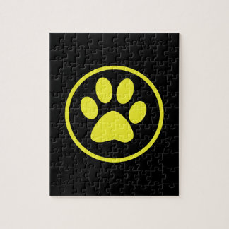 Yellow Dog Paw Dog Lover Jigsaw Puzzle