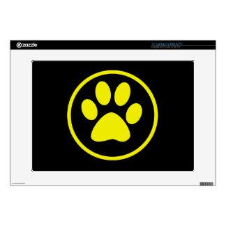 Yellow Dog Paw Dog Lover Laptop Skins