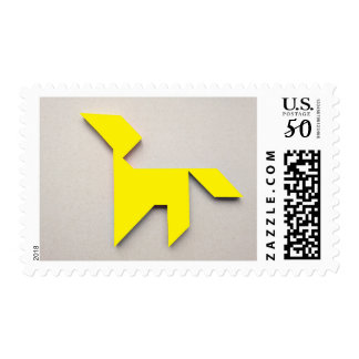 Yellow dog Tangram Postage