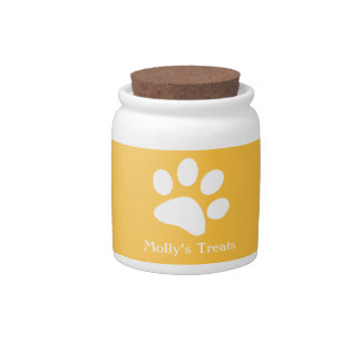 Yellow     Dog Treat Jars Candy Jar