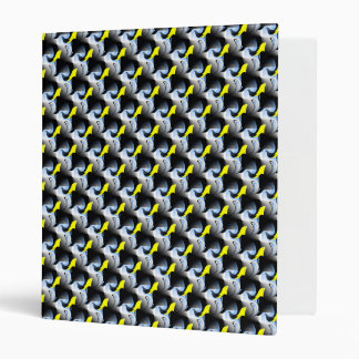 Yellow Dolphins and Bird 3D Artwork 3 Ring Binders