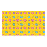 Yellow donut pattern business card template