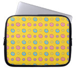 Yellow donut pattern computer sleeve