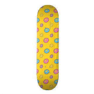 Yellow donut pattern skateboard