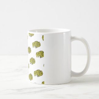yellow doodle bruces coffee mug