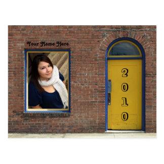 Yellow Door Open House invitation Postcard