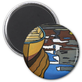 Yellow Dory Reflections 2 Inch Round Magnet
