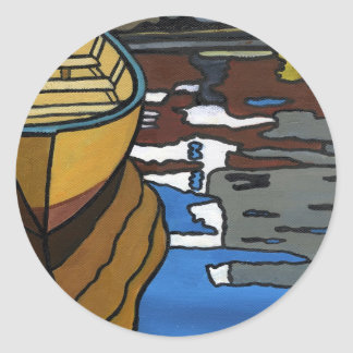 Yellow Dory Reflections Classic Round Sticker