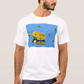 yellow dory with buoys at rockport T-Shirt
