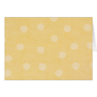 Yellow Dot Note Card