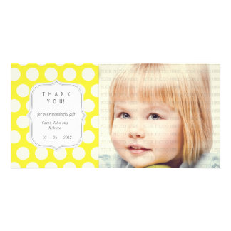 Yellow Dots - Any Occasion Thank you Card
