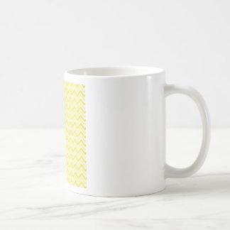 Yellow Double Chevron Coffee Mug