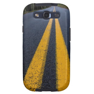 YELLOW DOUBLE LINE PAVEMENT ROADS TRAVELING PHOTO SAMSUNG GALAXY SIII CASE