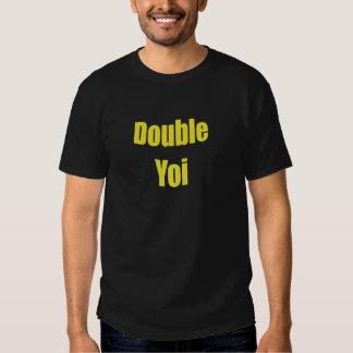 Yellow Double Yoi for Black Shirt