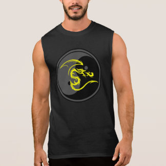 Yellow Dragon and Yin Yang Design 2 Sleeveless Shirt