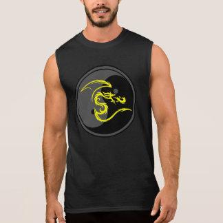 Yellow Dragon and Yin Yang Design 2 Sleeveless Shirts