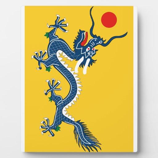 yellow dragon plaque