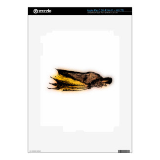 Yellow Dragon Sleeping Decal For iPad 3