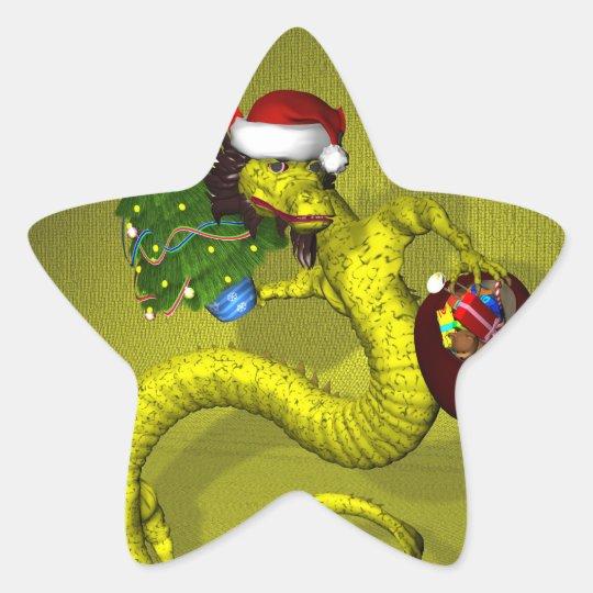 Yellow Dragon Star Sticker