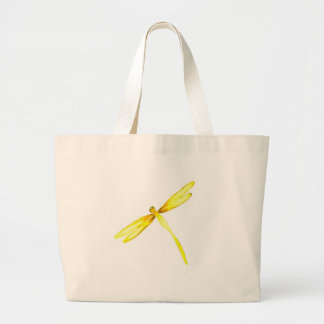 Yellow dragonflies design canvas bags