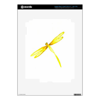 Yellow dragonflies design decal for iPad 3
