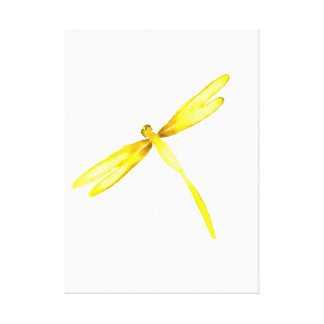 Yellow dragonfly canvas with dragonflies design gallery wrapped canvas