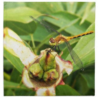 Yellow Dragonfly Cloth Napkin