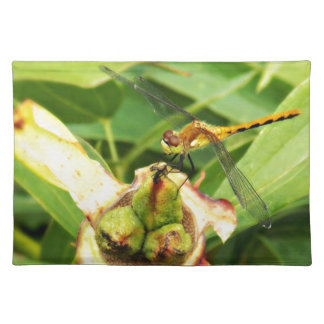 Yellow Dragonfly Cloth Placemat