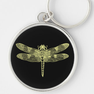Yellow Dragonfly Keychain
