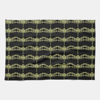Yellow Dragonfly Kitchen Towels