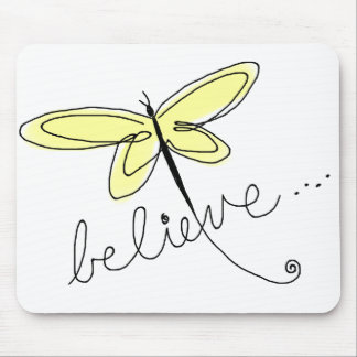 Yellow Dragonfly Mousepad
